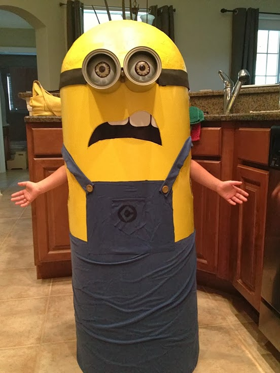 Granddaughter Homemade Minion Costume. Despicable Me.