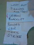 setlist Exodus, OST Fest, Bucuresti, Romexpo, 15 iunie 2012