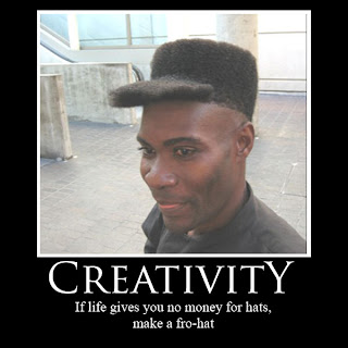 if life gives you no money for hats make a fro-hat