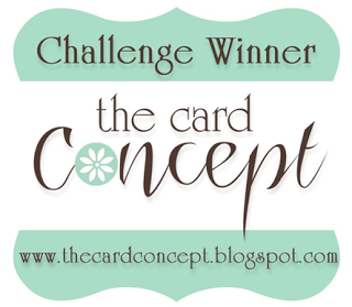 I'm a Winner at The Card Concept!