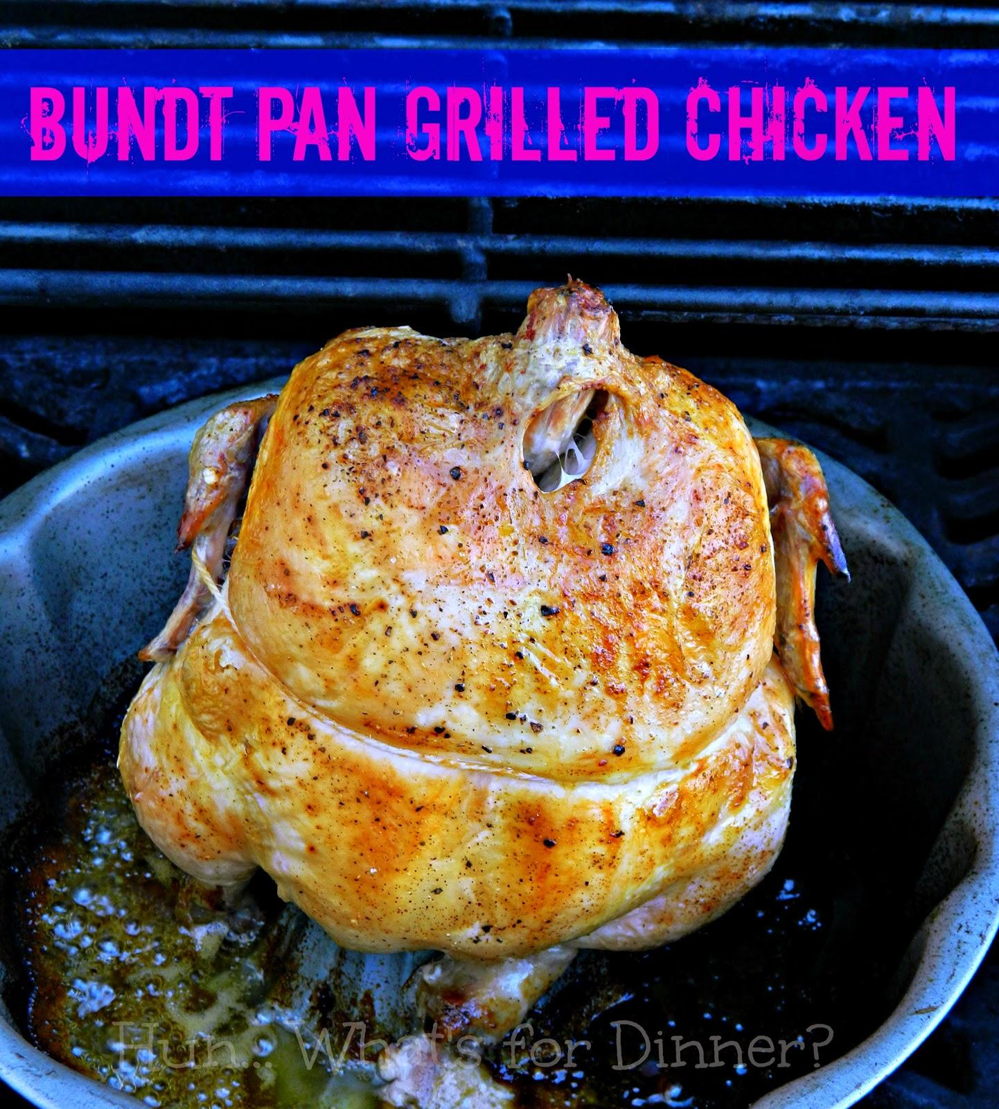 Grilled Bundt Pan Chicken- www.hunwhatsfordinner.com