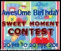 Awesome Birthday - Sweet Moment Contest..!!