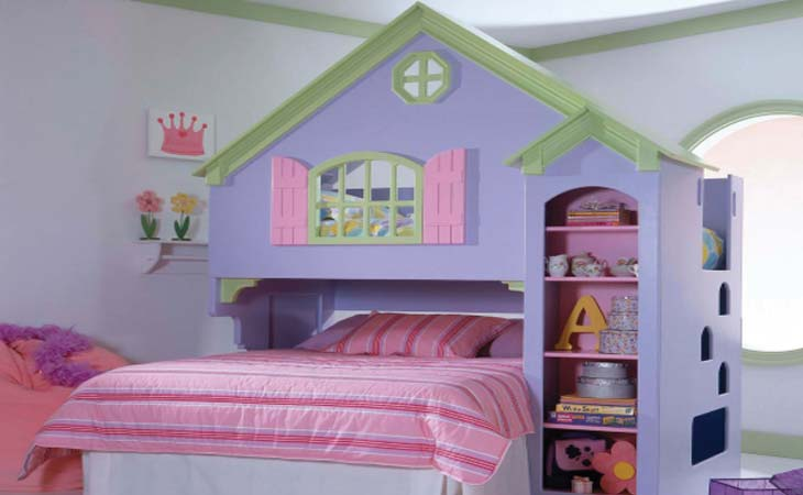 Home Decor Design Cute and Beautiful Bedroom Decoration for Kids