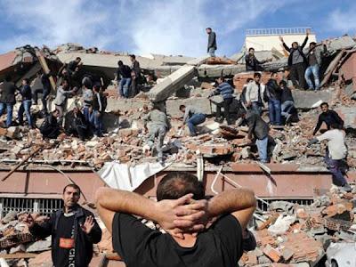 terremoto 7,3 grados Turquía 23 de octubre de 2011