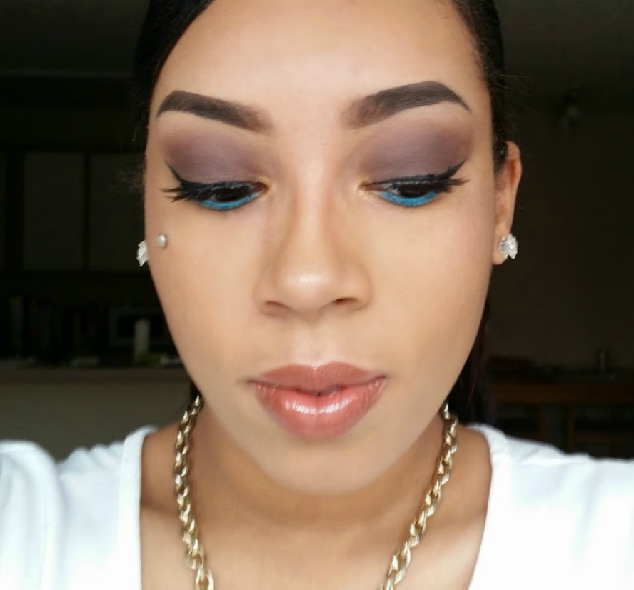 Brown Smokey Eye With a Pop of Color Tutorial | Mommy Makeup Series