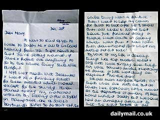 Diana Personal Letter