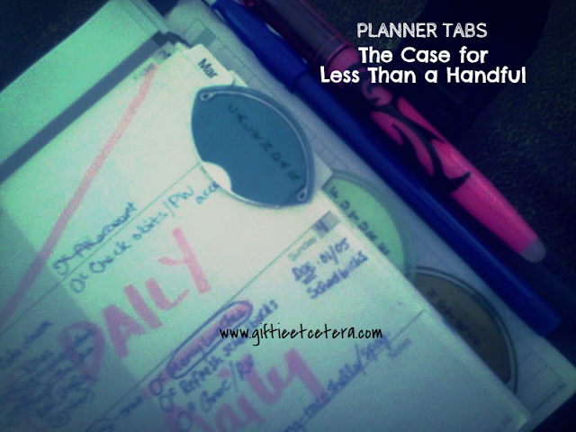 planner, tabs, sections