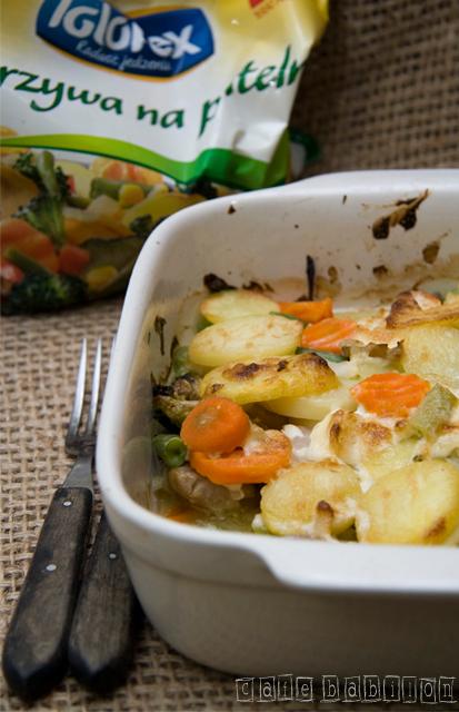 Rybna zapiekanka z polskimi warzywami
