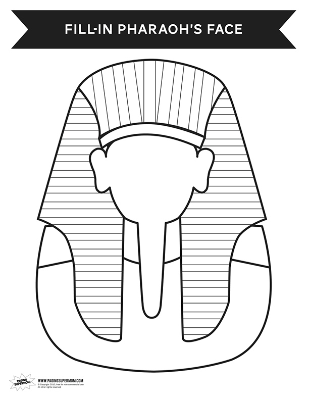 egyptian pharaoh coloring pages