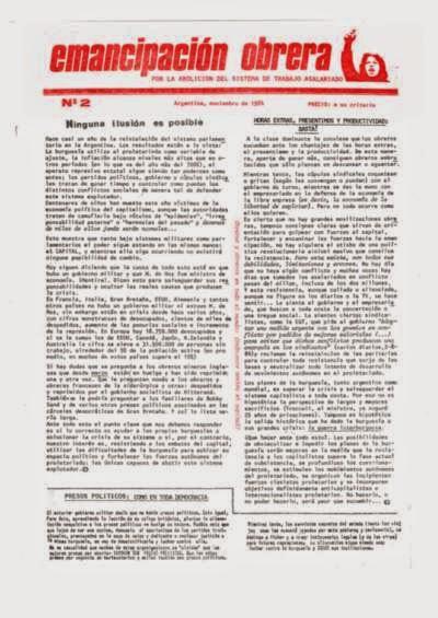 Periódico Emancipación Obrera N° 2 (Argentina)