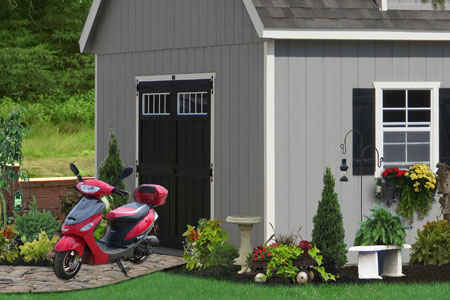 Buy a Two Story Shed for Cycle Storage and Living Space & Buy Cycle and ATV Storage Sheds in PA NJ NY CT DE MD VA and WV