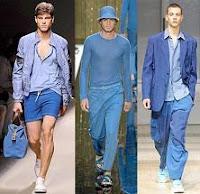 Ropa de moda azul para hombre
