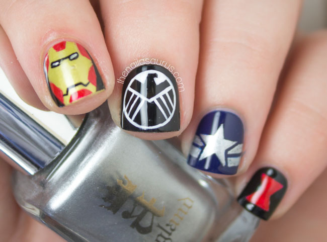 Avengers Nail Art The Nailasaurus