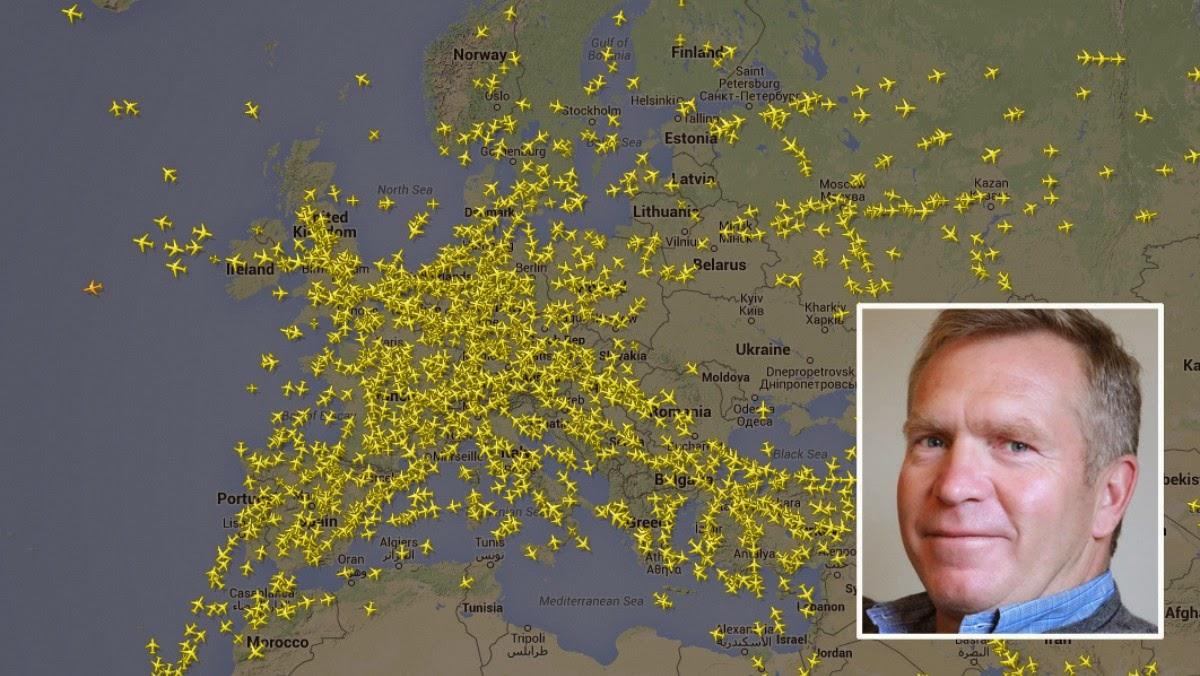 Fly i lufta over europa