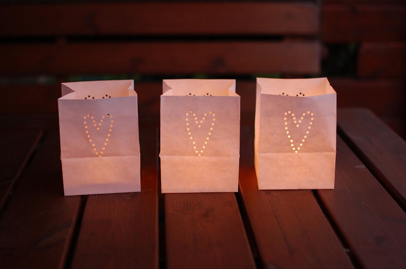 Tindra Hannas Heart Paper Bag Lanterns