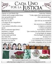 BOLETÍN CADA UNO POR LA JUSTICIA 32/ MAYO 2012