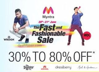 Myntra's Fast & Fashionable Sale Upto 80% off