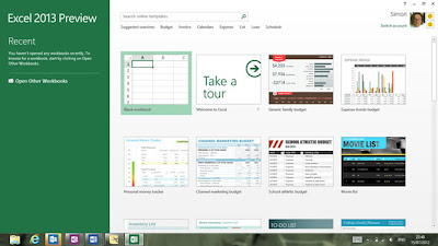 MS Excel 2013: New Features