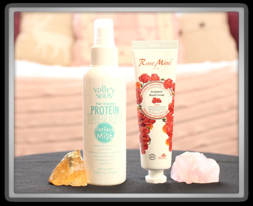 겟잇뷰티박스 by 미미박스 memebox beautybox Special #36 Meme's Pouch unboxing review box Vally sous hair therapy mist evas rose mine hand cream