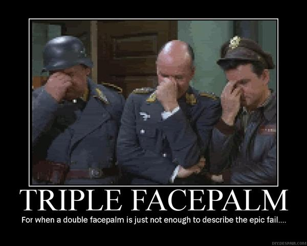three stooges triple face palm