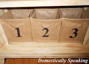 Nursery Project #3 - Numbered Burlap Baskets