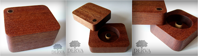 drewniane opakowanie biżuterii