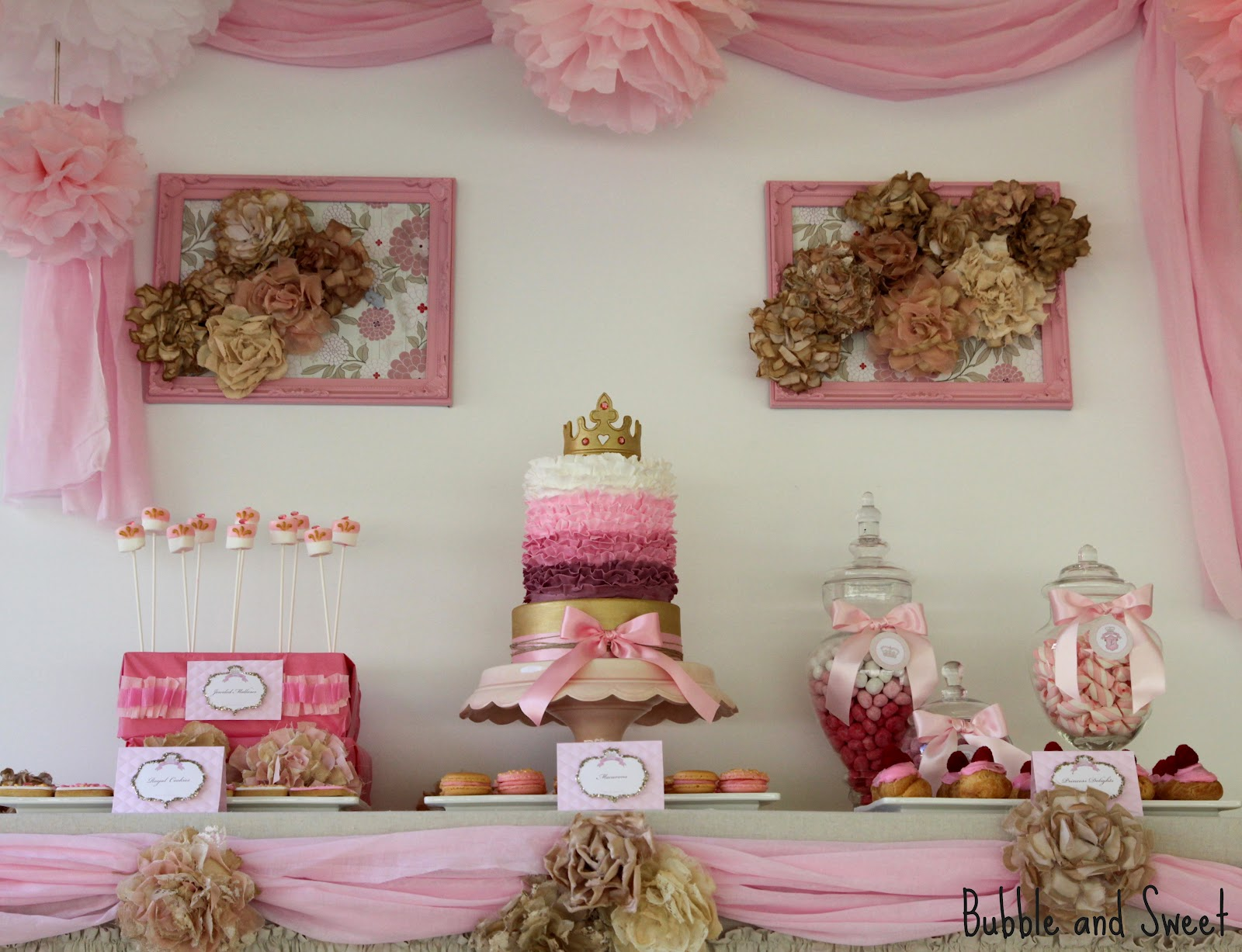 Bubble and Sweet Pink Shabby Chic Princess Party for Lillis 8th