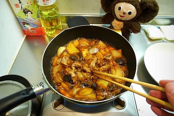 豚肉のみそ煮込み丼の作り方(3)