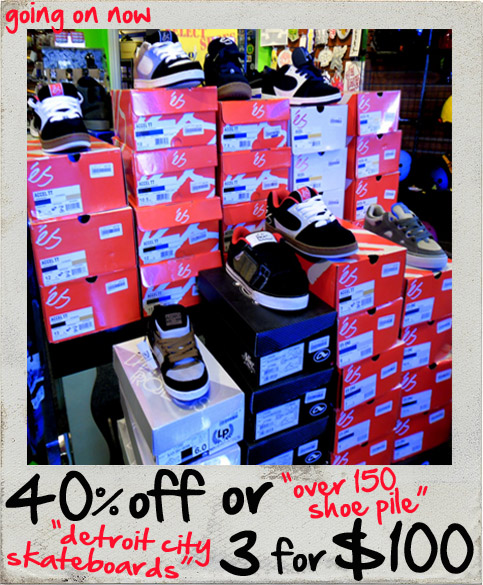 9569f22e338147 Huge shoe sale going on now   DCS shops. 40% off or 3 for  100. Emerica