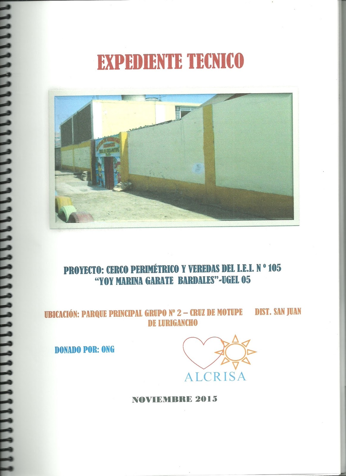 Alcrisa bolet n balance 2015 for Planos mobiliario escolar peru