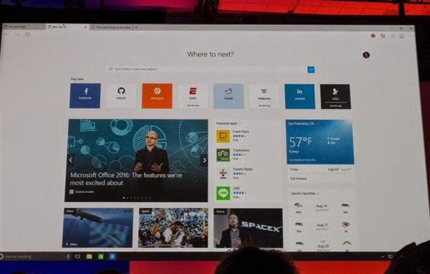 Microsoft Edge é o nome do novo navegador do Windows 10