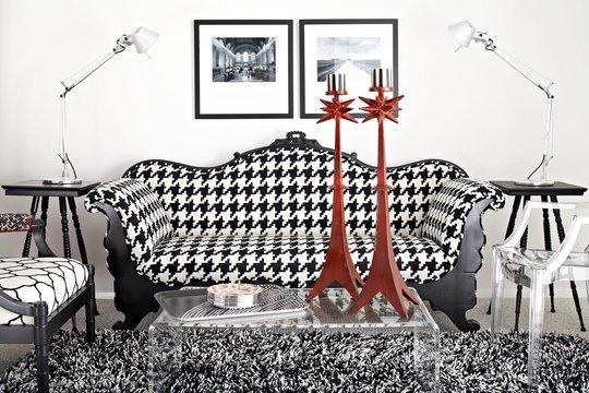 Creative influences houndstooth - Tapices para sofas ...