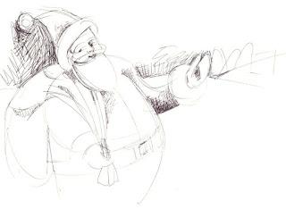rough sketch of Santa Claus