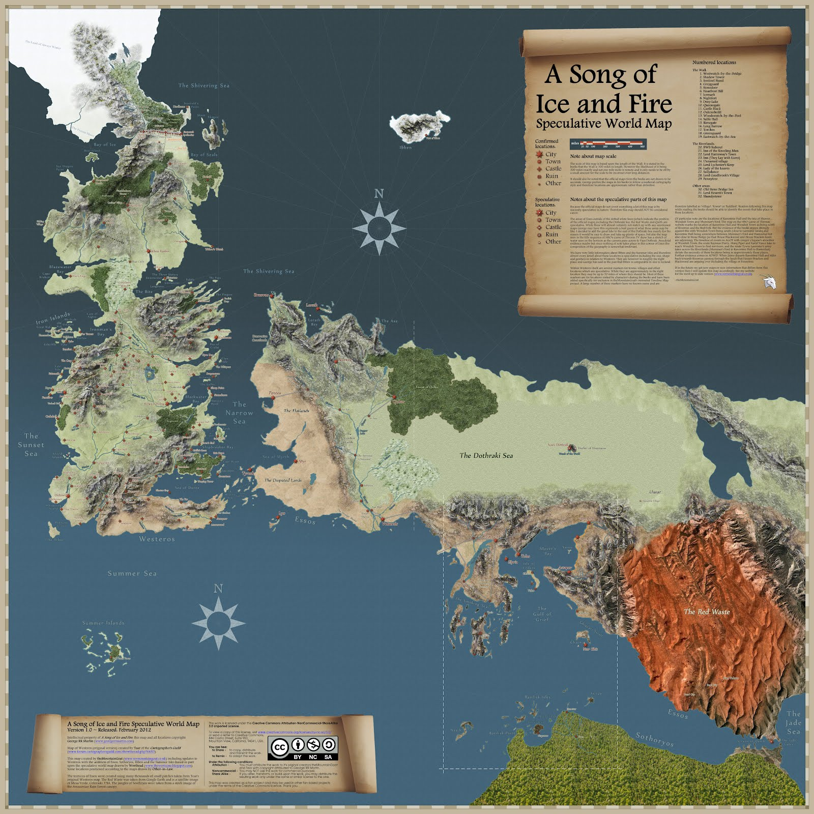 The wertzone the most complete asoiaf world map yet martin commented on the maps accuracy and also revealed some fresh information about the forthcoming maps of ice and fire book gumiabroncs Images