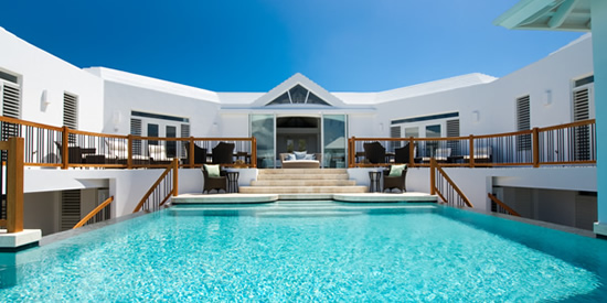 Turks & Caicos property and pool