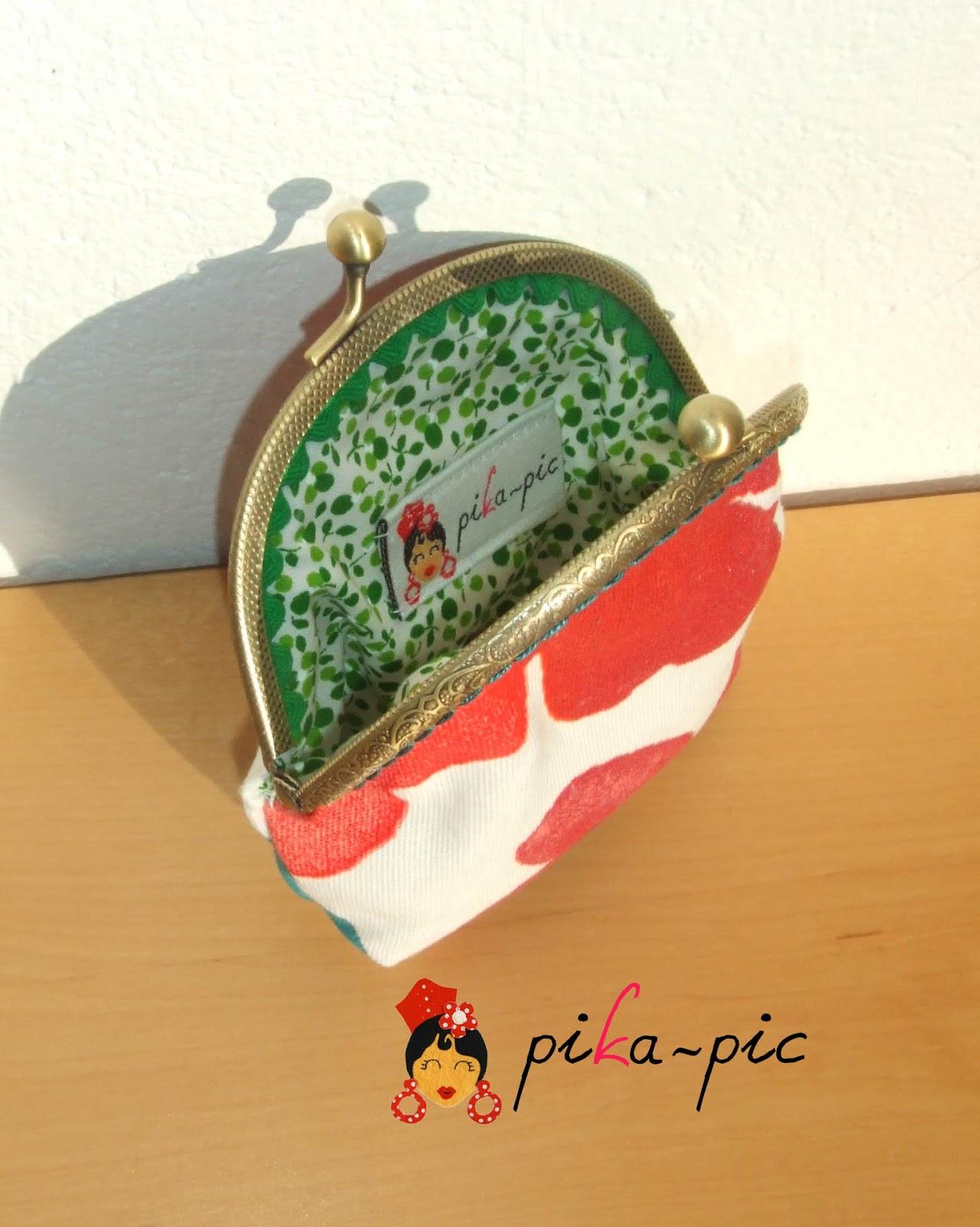 Pikapic monederos con boquilla redonda for Ondulina verde