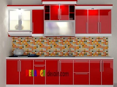 Kitchen Set Kitchen Set Merah Glossy