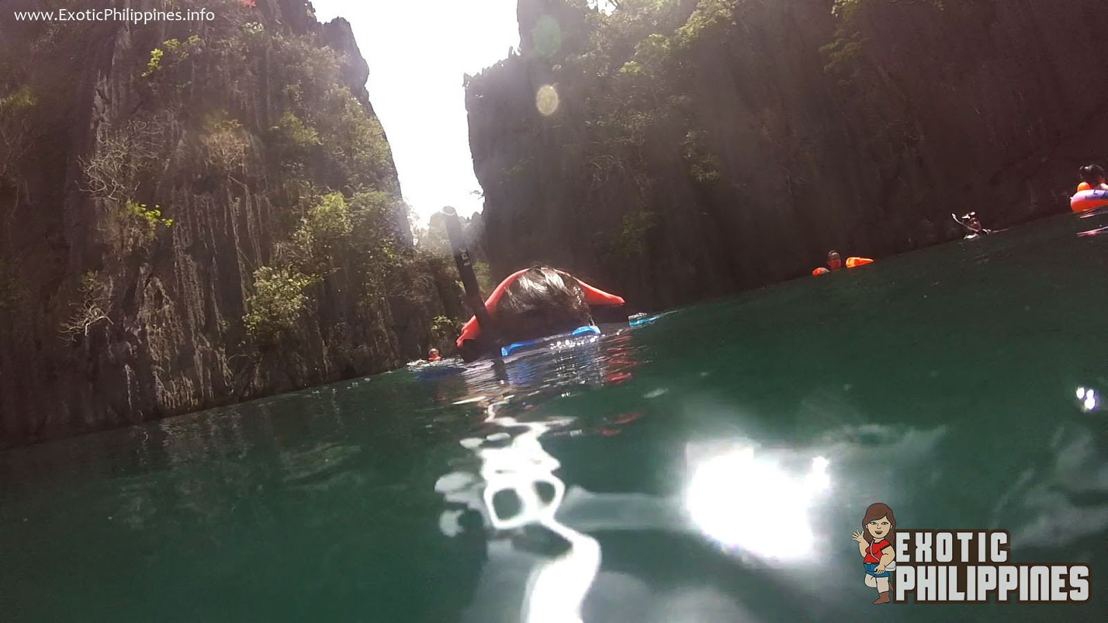 Taking a Dip at the Beautiful Twin Lagoon in Coron Palawan Exotic Philippines Travel Blog and Blogger