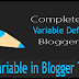 How To Define Variable in Blogger Template by CSS?