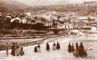 Candelario Salamanca desde las eras a principios del siglo XX