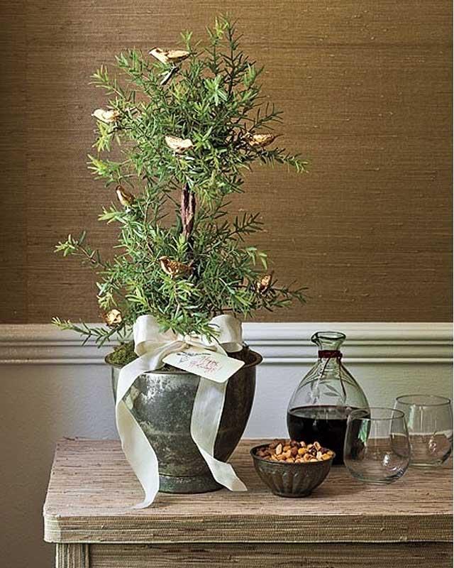 arboles de navidad pequeños elegantes decorados romero