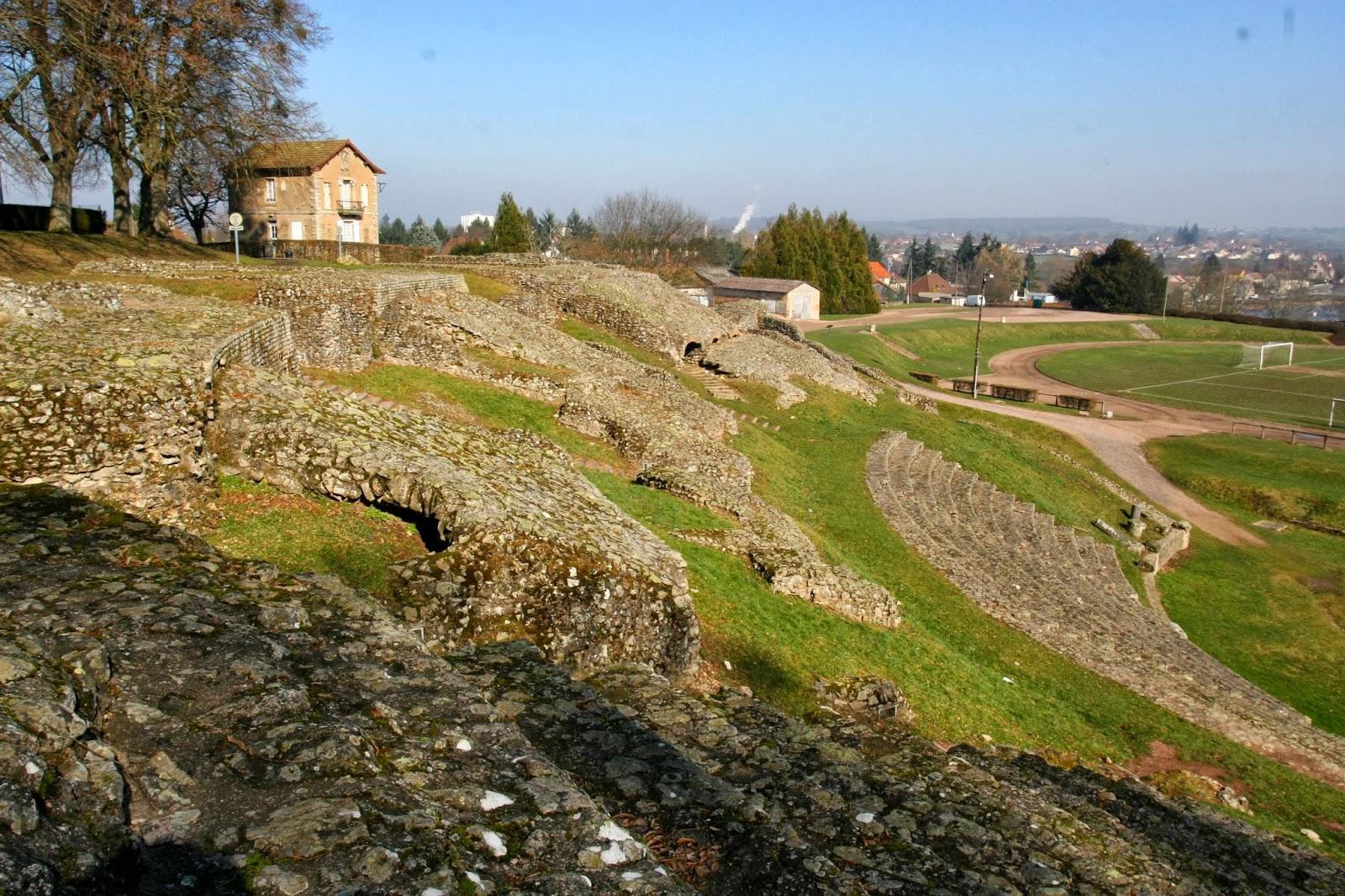 Romeins theater in Autun in Bourgondië in Frankrijk