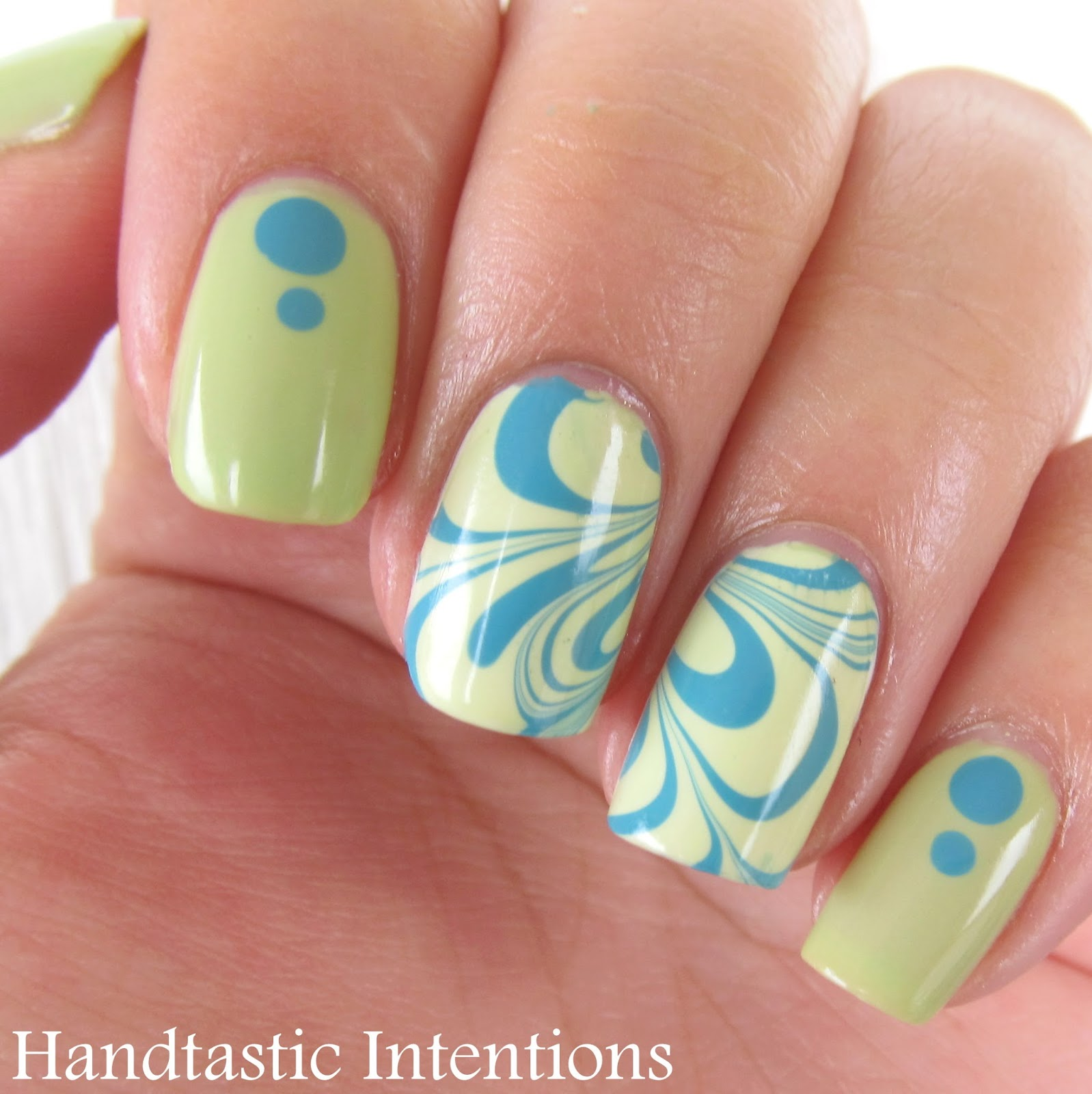 Nail-Art-Water-Marble-Turquoise-Green-3