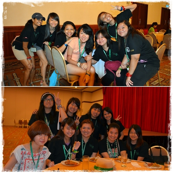 Volunteers from ITE College Central, Bishan campus, Singapore (T) and Taylors University Lakeside campus, Kuala Lumpur (B)