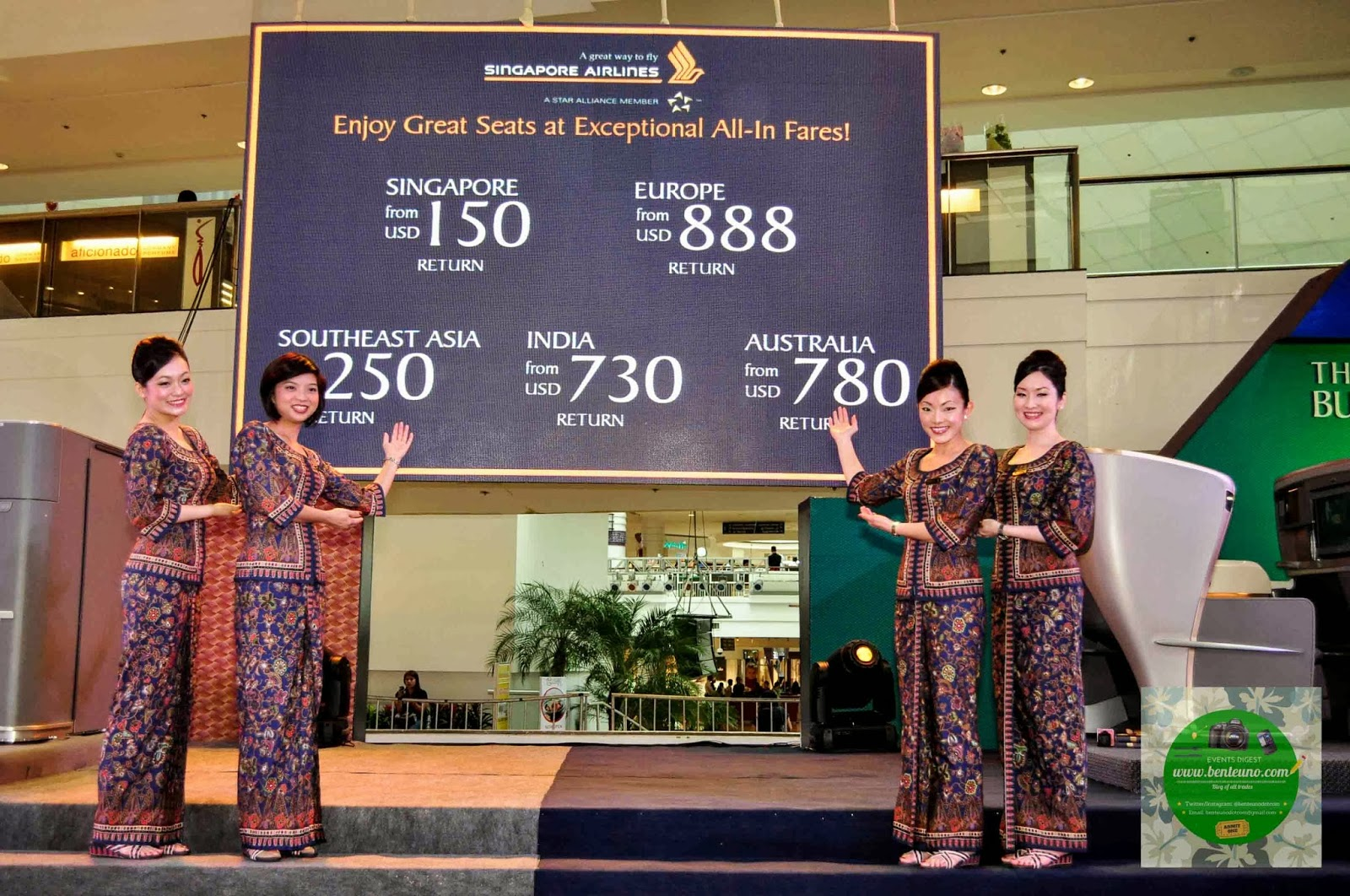 Singapore Airlines exceptional all-in fares
