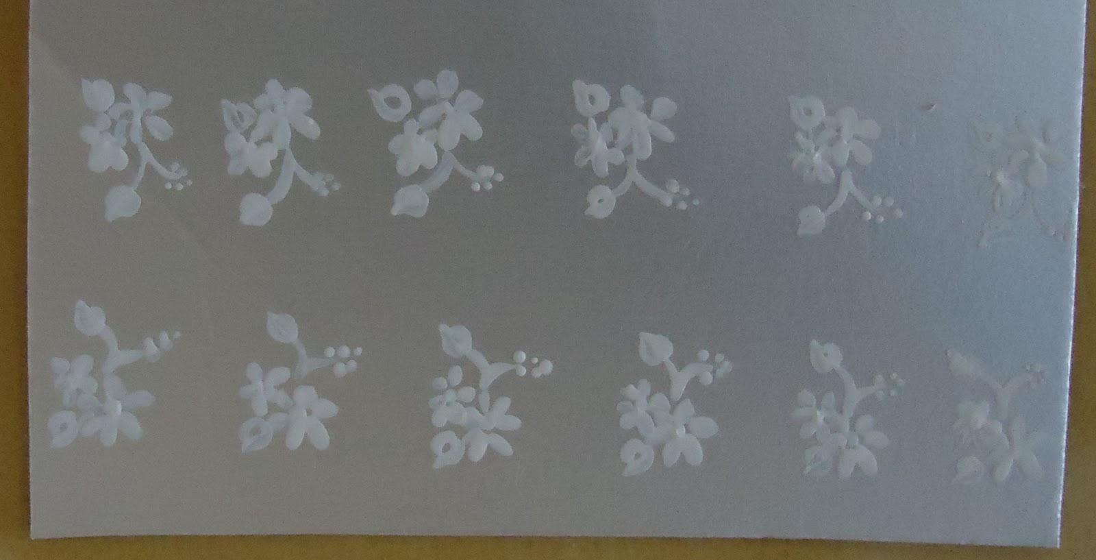 Armario Metal Com Chave ~ Beleza das unhas Adesivo artesanal de unhas flores brancas