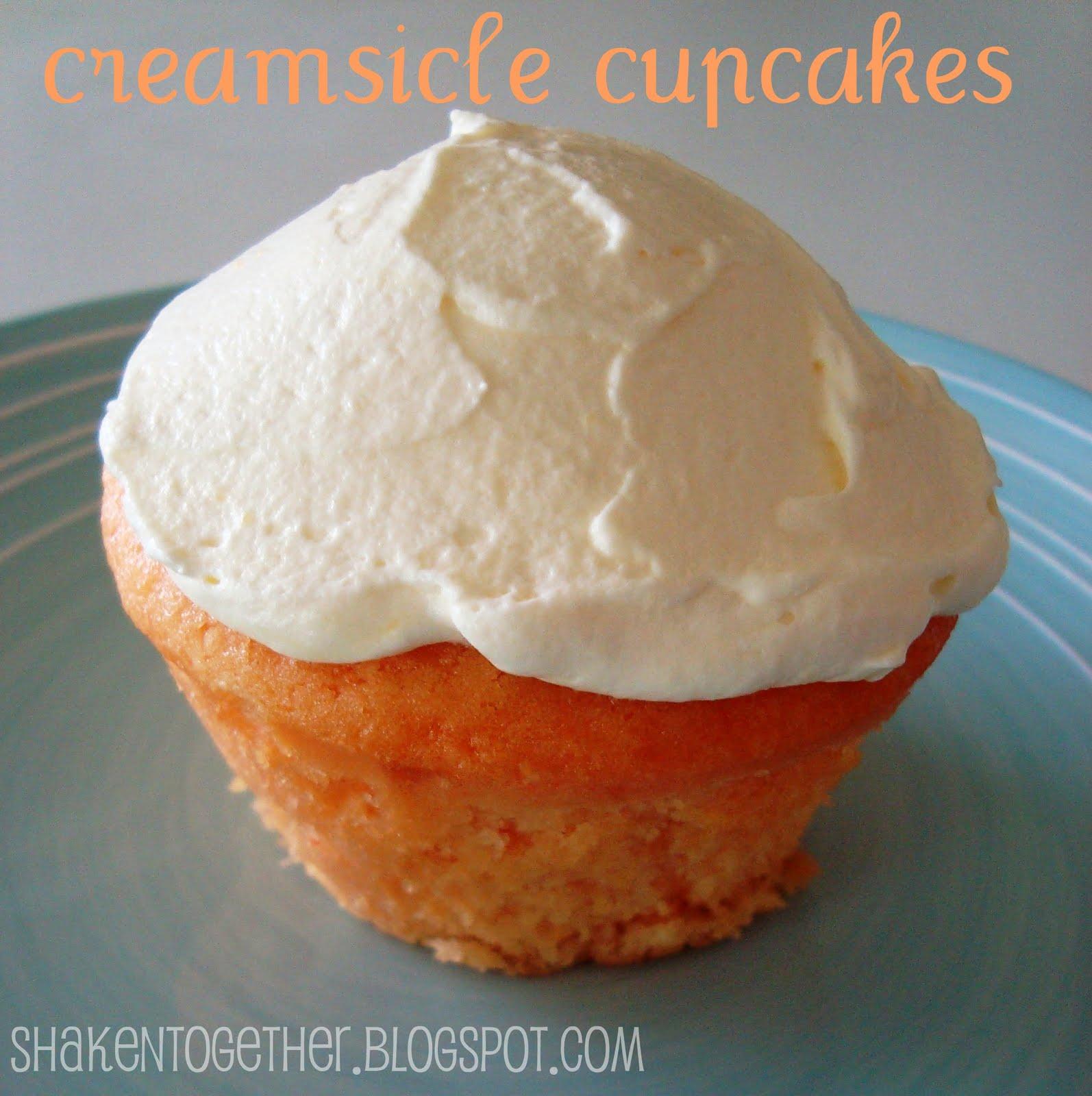 taste this} Creamsicle Cupcakes - Shaken Together