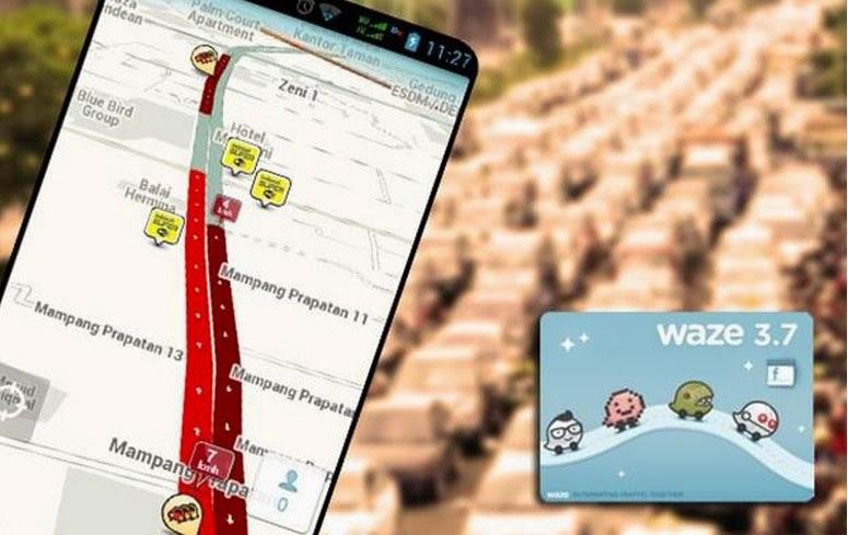 Download Aplikasi Hindari keMacetan dengan Waze Social GPS Maps & Traffic Android