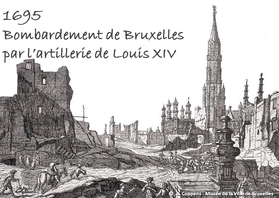 """BRUXELLES-PENTAGONE - Roel Jacobs - CFC éditions - Bombardement de Bruxelles (1695) et incendie de la Grand-Place - """"Livre en tête"""" conseillé par Bruxelles-Bruxellons"""