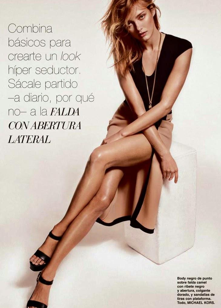 Magazine Photoshoot : Karmen Pedaru Photoshot by Jonathan Segade Telva Magazine Spain January 2014 Issue